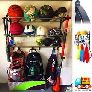 Image Is Loading Sport Organizer Hang Kid Helmet Basket Ball Racket