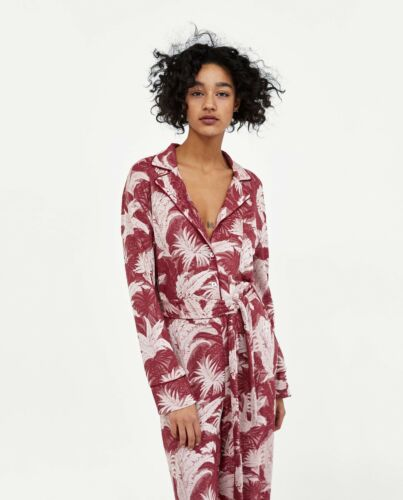 Jacquard Nwt Floral Size Out Sold Medium Jumpsuit Zara 1PaqR