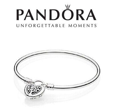 Moments Family Tree of Love Heart Padlock Bangle Bracelet | eBay