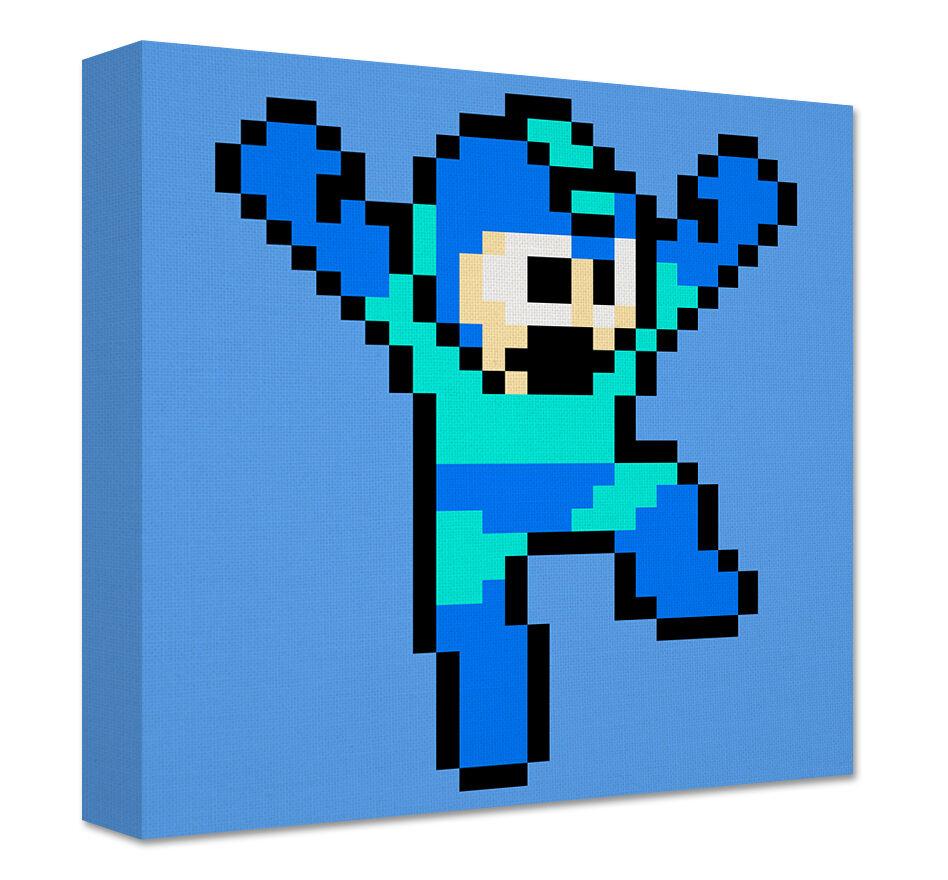 Megaman Leinen Große Wandkunst Nes Snes Sprite Pixel Kunst