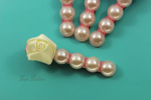 Haarklammer Haarspange Rose Blume Blüte Perlen Haarschmuck A402