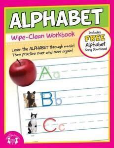 NEW-10pg-Wipe-Clean-Alphabet-Reusable-Workbook-Preschool-Kindergarten-Classroom