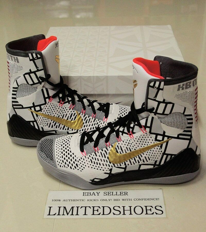Nike kobe ix 9 elite oro noi bianco pack collection 630847-100 noi oro 9 capolavoro id 616cd1
