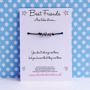 Best-Friends-Are-Like-Stars-Star-Charms-Wish-Friendship-BFF-Bracelet-Gift