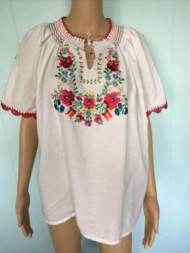 Traditional Hungarian Matyo Kalocsai Embroidered … - image 1