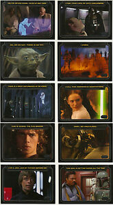Star-Wars-Galactic-Files-Series-1-034-CLASSIC-LINES-034-10-Card-Insert-Set