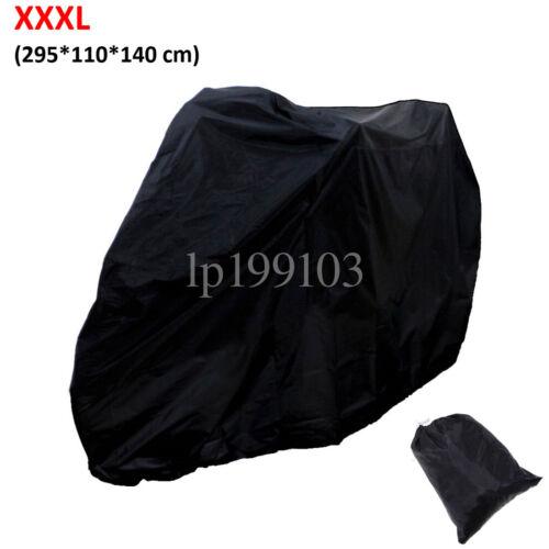 XXXL Motorcycle Cover Black For Honda Kawasaki Suzuki Yamaha BMW Victory