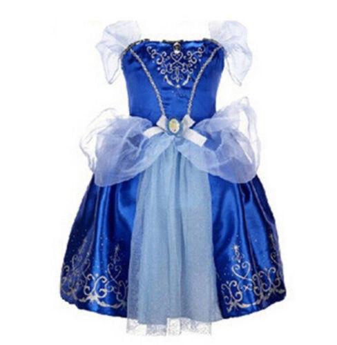 UK Kids Girls Costume Princess Fairytale Dress Up Belle Cinderella  Rapunzel