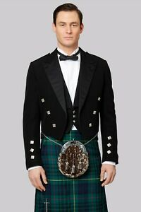 Scottish-Mens-Prince-Charlie-Kilt-Jacket-with-Waistcoat-Vest-Sizes-36-034-54-034