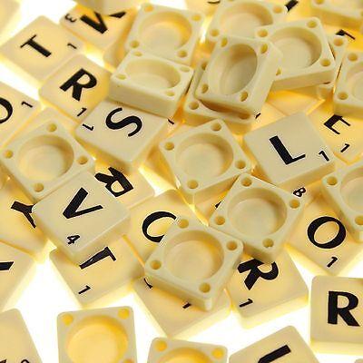 Azulejos De Plástico Marfil//Negro Letras de Madera Juego de Mesa 100-1000 Juegos Completos