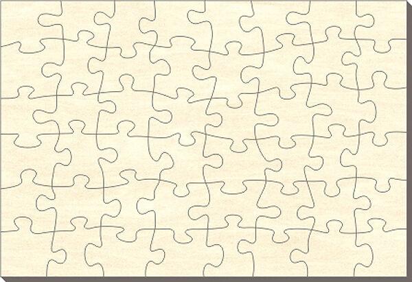 Offerte iniziali LEGNO-puzzle rettangolo, 48 parti, 76x56 cm, per dipingere anche
