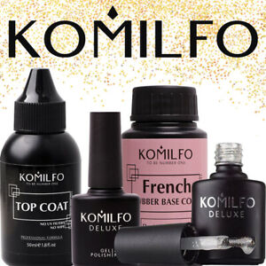KOMILFO-Nail-Gel-Polish-Rubber-Top-amp-Base-Acid-Free-Matte-Top-No-Wipe-Top-Coat