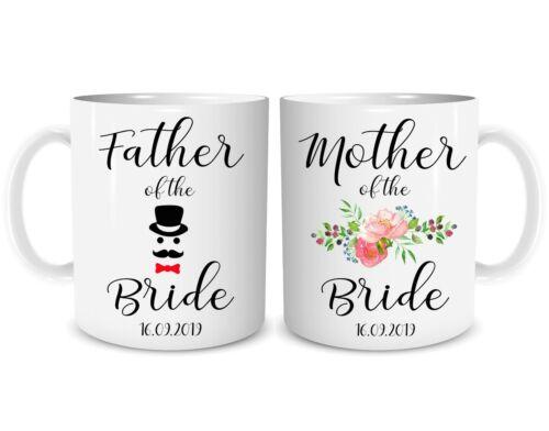 Personalisiert Hochzeitstag Geschenk Vater Brautmutter Marriage WSDMUG1460