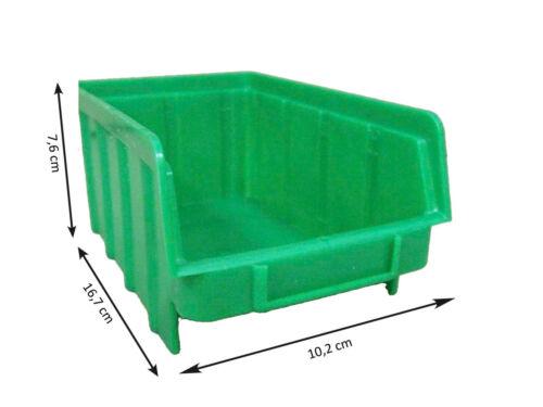 2 Stapelbox Schraubenbox Stapelbox 80 Stück Sichtlagerboxen grün Gr