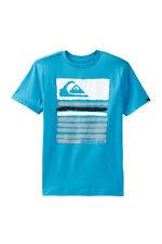 Quiksilver Boys L Painter Turquoise Blue Graphic Short Sleeve Tee T-Shirt