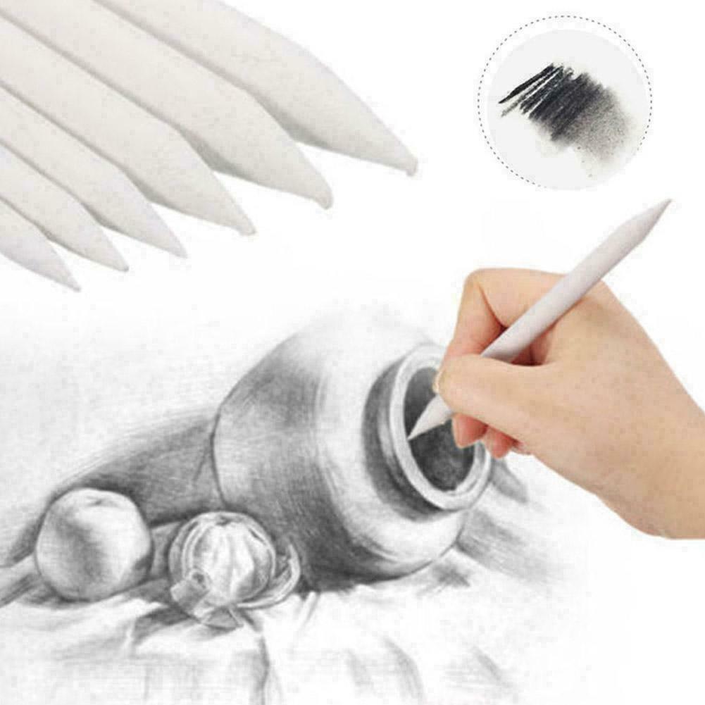 Tortillon Stump Sketch 6 Sizes Art Drawing Tool Pastel New 6pcs Blending Smudge