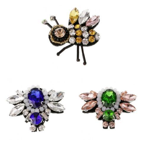 3D Strass Biene Perlen Biene Patch für Kleidung Nähen auf Perlen Applique