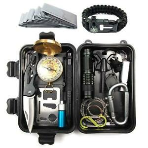 Survival Kit Set Military Outdoor Travel Mini Camping Tools Emergency Aid Kit