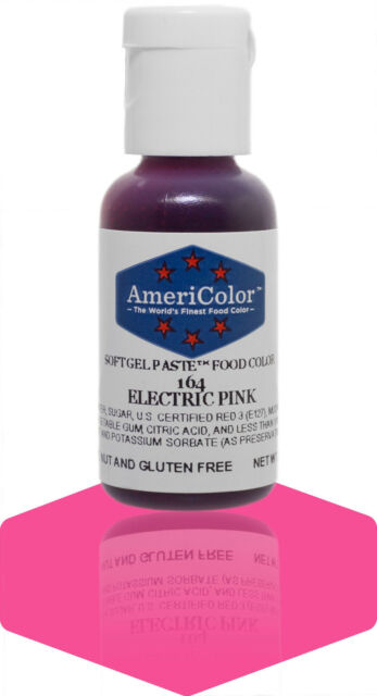 Americolor Gel Paste Food Color Coloring, Electric Pink -
