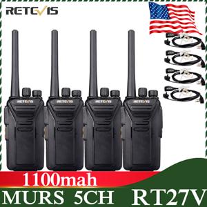 2XRetevis Walkie Talkie RT27 VHF MURS 2-Way Radio FRS analog Handheld+Cable US