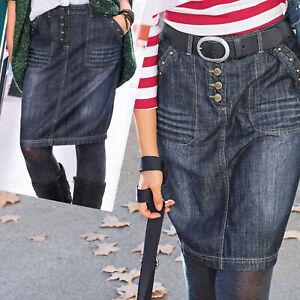 genial-COOL-Jeansrock-Pencil-ROCK-Gr-40-L-BLAU-SKIRT-Jeans-Bleistiftrock