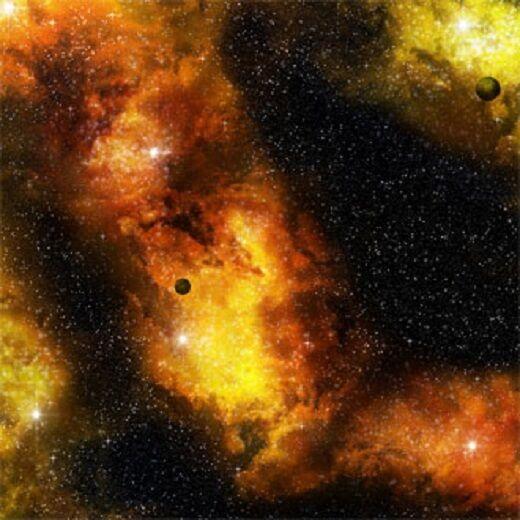 Gale Force Nine  Fiery Space Nebula Mat  BM003