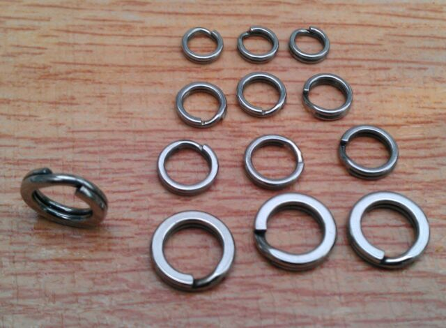 Super Heavy duty stainless steel  split rings Sea Fishing pirks and lures