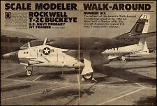 1989 vintage magazine photo, Rockwell T-2C 'Buckeye' Jet Trainer-  121912