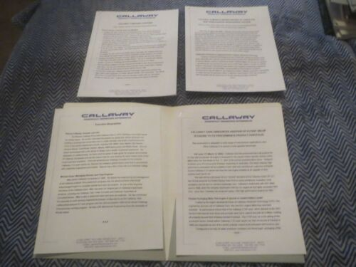 2002 CALLAWAY C12 MAZDASPEED PROTEGE PRESS KIT