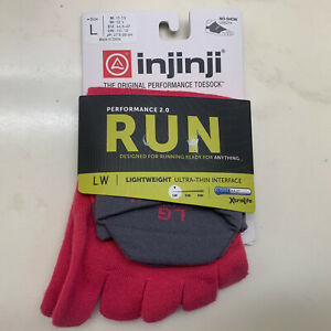 Injinji Unisex Lightweight No-show Running Toe Socks Performance 2.0 Large