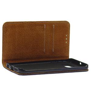 Echtleder-Flexi-Book-Tasche-Schutzhuelle-fuer-Samsung-Galaxy-S6-Edge-Schwarz