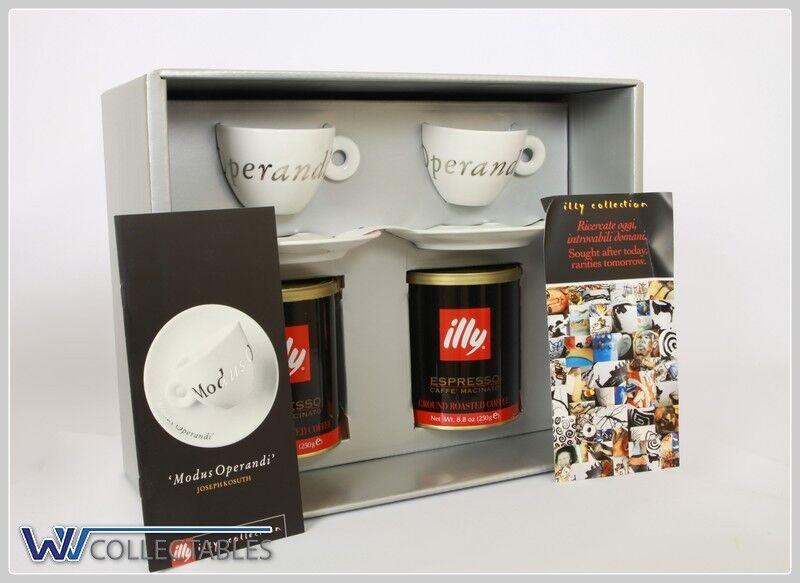 Illy Art Collection Modus Operandi Joseph Kosuth 2 Cappuccino Cups  (White)