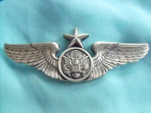 HIGHEST QUALITY USAF AIR FORCE SENIOR ENLISTED AIRCREW MEMBER STERLING WINGS