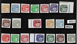 6012-Complete-MNH-stamp-set-Newspaper-WWII-Third-Reich-Occupation-1939-amp-1943