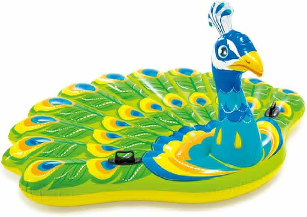 Intex Peacock Inflatable Island (Green) for adult kids Pack of 1