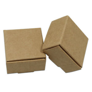 bca4b7fe69e Kraft Paper Candy Jewelry Gifts Box Brown Party Wedding Multi-size ...