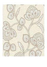 Graham & Brown Nadira White Floral Glitter Premier Vinyl Wallpaper (31-044)