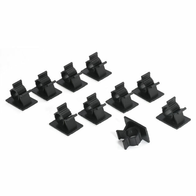 10x Durable Cable Mount Clips Self-Adhesive Desk Wire USB Organizer Cord Holder