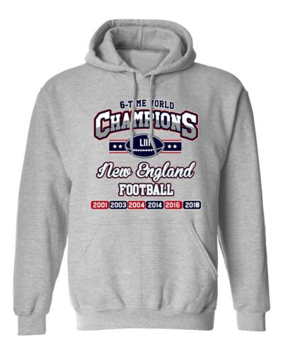 New World Champion 6-Time New England Football Sports DT Sweatshirt Hoodie