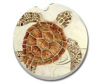 1 Absorbent Auto Car Stone Coaster For Cup Holders Sea Turtle, Nautical Usa