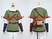 The Legend of Zelda: Twilight Princess Link Cosplay Costume Outfits Trousers Hat