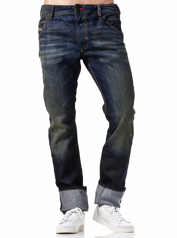 New Diesel Krooley 8Y3 Regular Slim Carred Leg Dark 3D  DNA Jeans 28 32