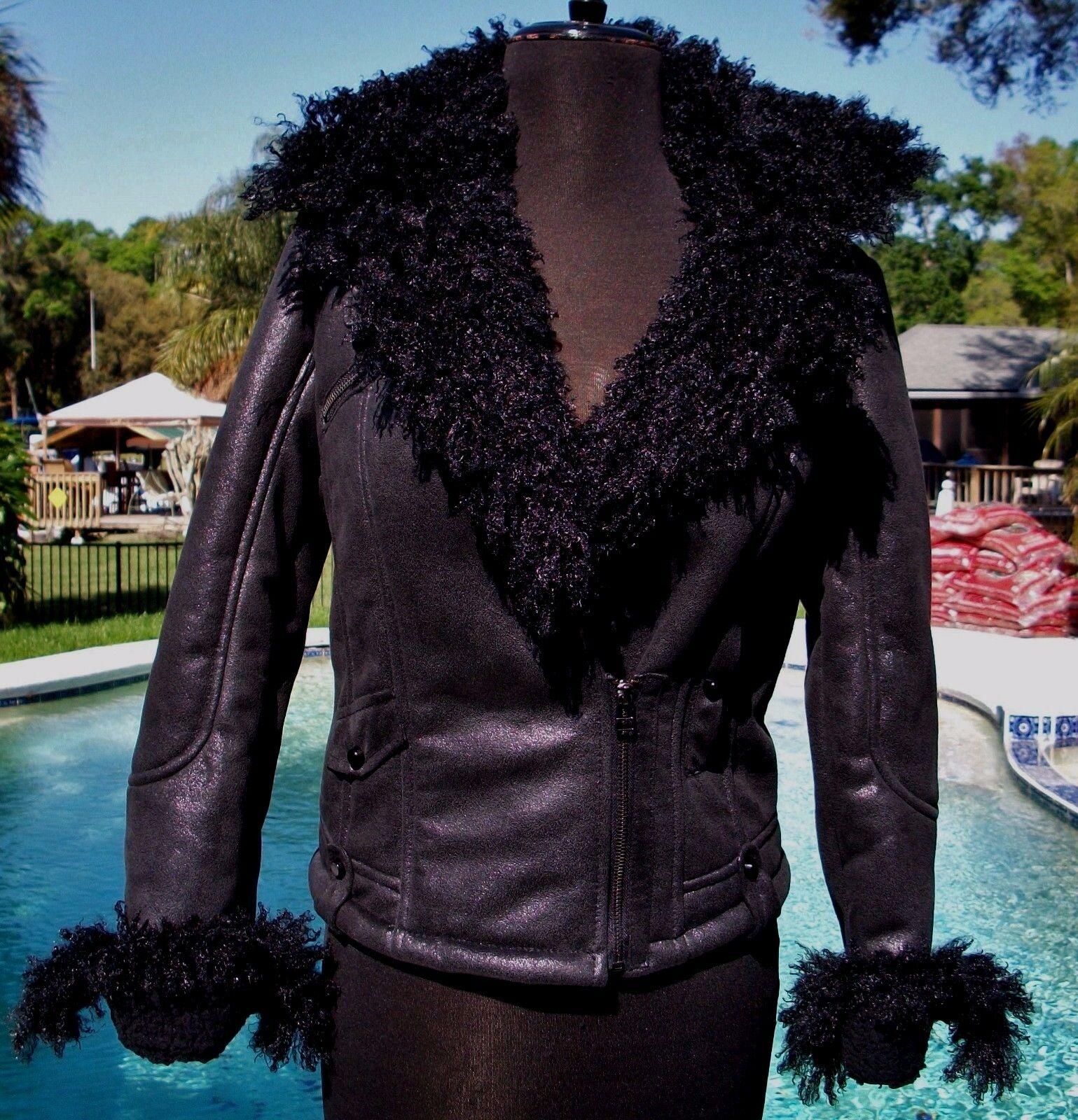 Donald Pliner Couture Gator Hair New Calf  Leder schuhe New Hair T Strap Platform $325 NIB e85348