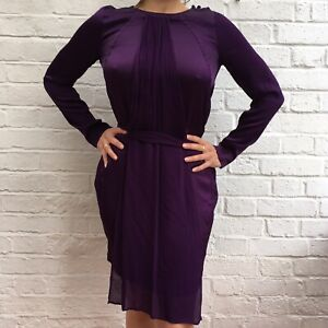 Details About Ghost Purple Bridesmaid Formal Prom Wedding Guest Dress Gown S Size 10