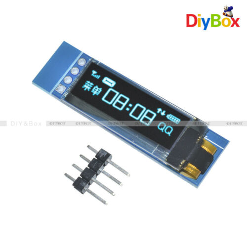 """0.91/"""" IIC I2C SPI 128x32 Blue OLED LCD Display Module For Arduino PIC"""