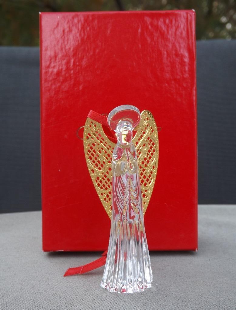 MIB Older Gorham Cristal Nativité or Ailé Ornement C655