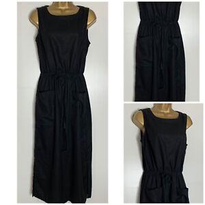 Next-Black-Sleeveless-Midi-Dress-Sizes-8-26-Reg-Petite-Tall-n-84h