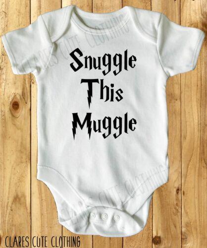 Snuggle este mundo Harry Potter Bebé Chaleco//Blanco crecer disponible en la mayoría de tamaño