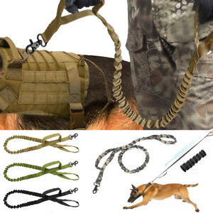 Retractable-Nylon-Rope-Dog-Leash-Tactical-K9-For-Large-Dog-Heavy-Duty-Coupler