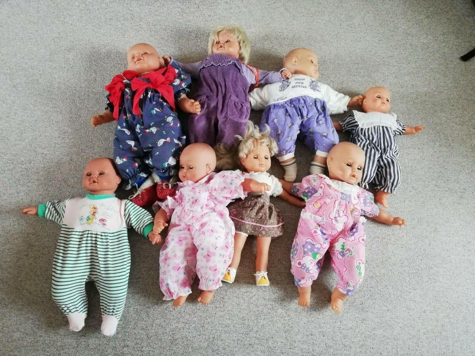 8 Puppen von Lissi Bätz 35 -55cm  gemarkt 1053  super Zustand